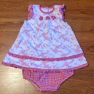 Great Little Me red and white set - 6 mo